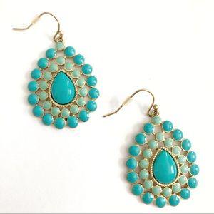 Stella & Dot Charlize Turquoise Drop Earrings